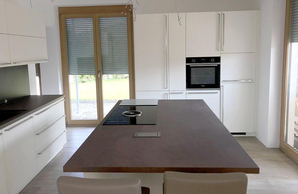 Tolle neue Küche mit seidenmatt lackierten Fronten - MEGA ...