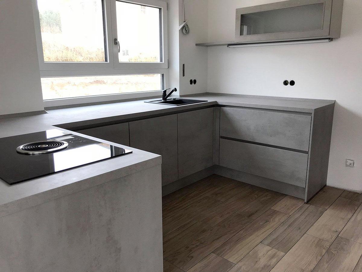 Style-Küche in Betonoptik - MEGA Küchenwelten: schöne Küchen gut + ...