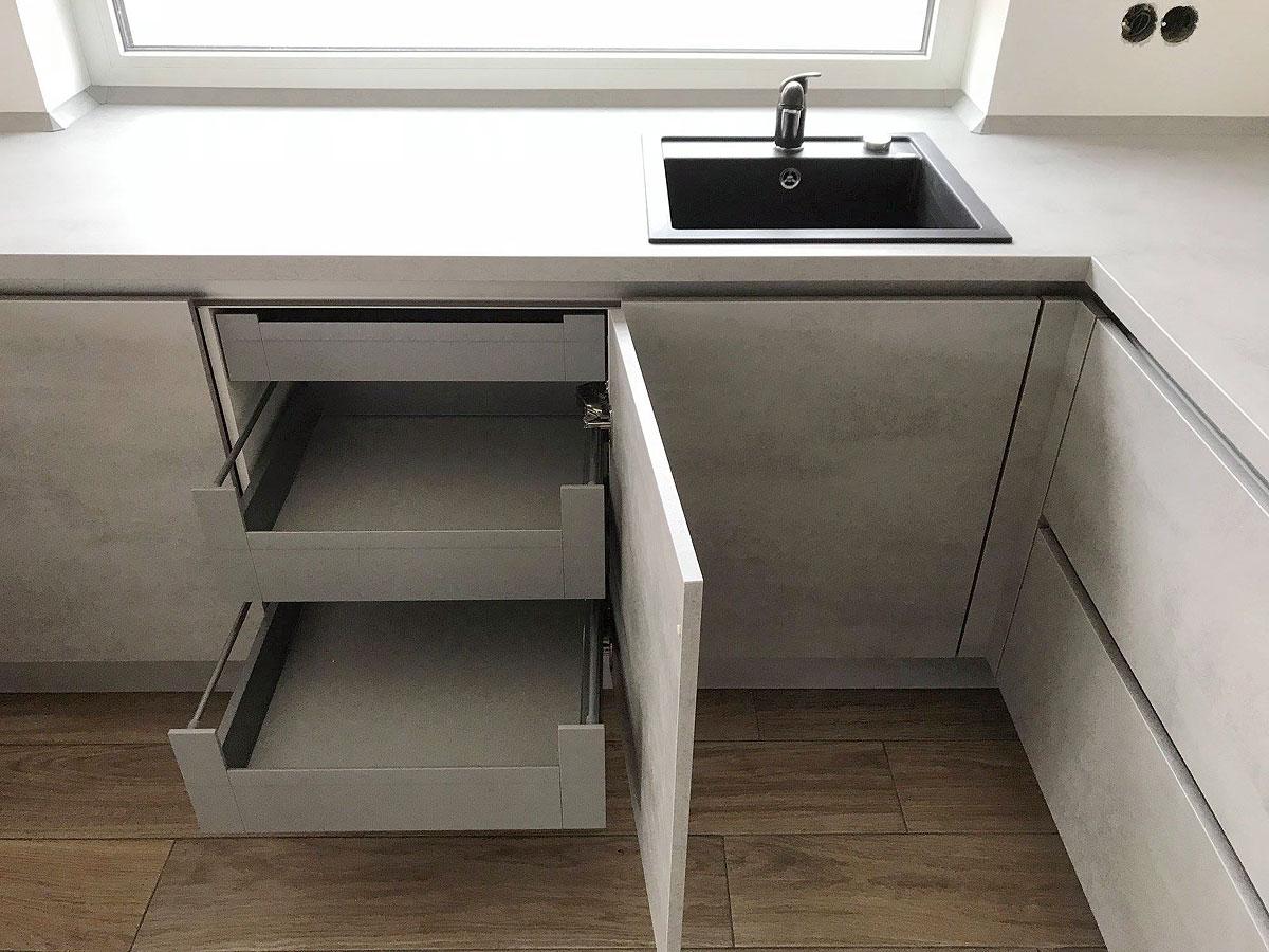 Style-Küche in Betonoptik - MEGA Küchenwelten: schöne Küchen ...