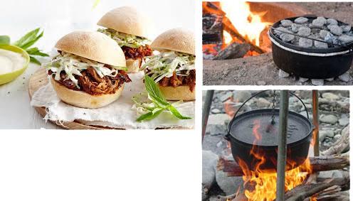 American Barbecue - Feuerplatte und DutchOVEN