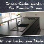 Elegante, familienfreundliche Küchenlösung